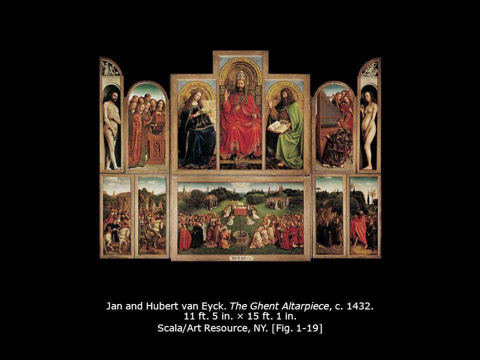 Jan and Hubert van Eyck. The Ghent Altarpiece, c. 1432. 11 ft. 5 in