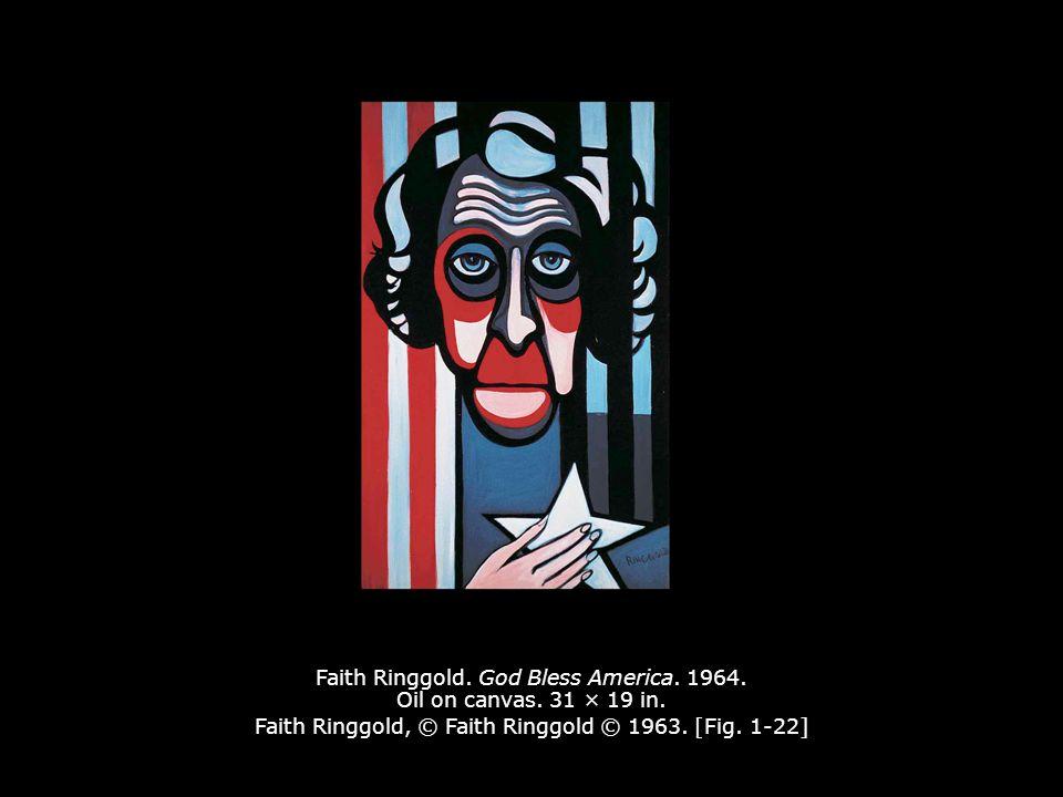 Faith Ringgold. God Bless America. 1964. Oil on canvas. 31 × 19 in