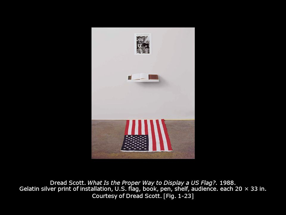 Dread Scott. What Is the Proper Way to Display a US Flag. 1988