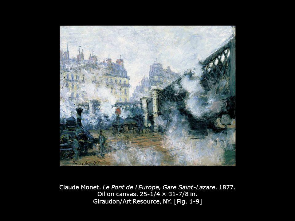 Claude Monet. Le Pont de l'Europe, Gare Saint-Lazare. 1877