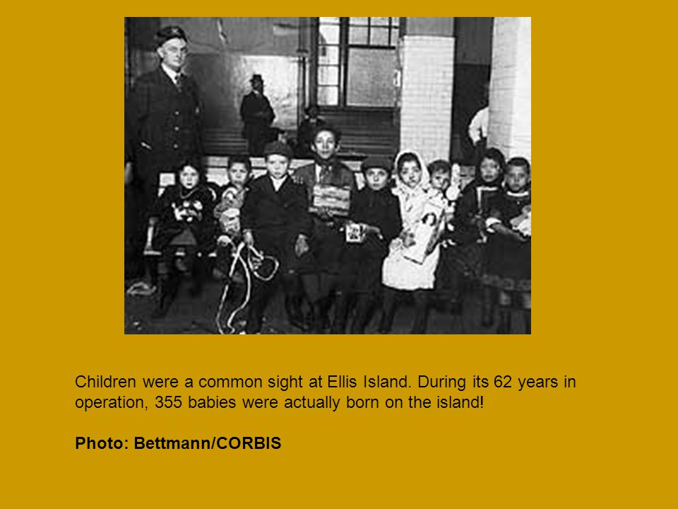 Children were a common sight at Ellis Island