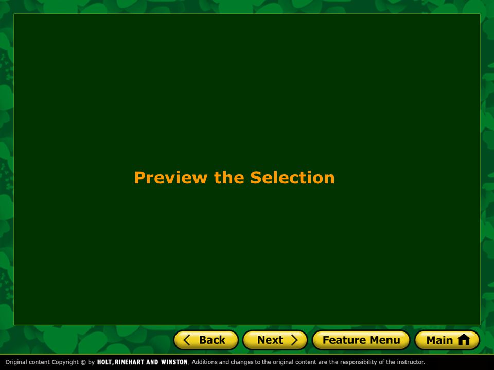 Preview the Selection