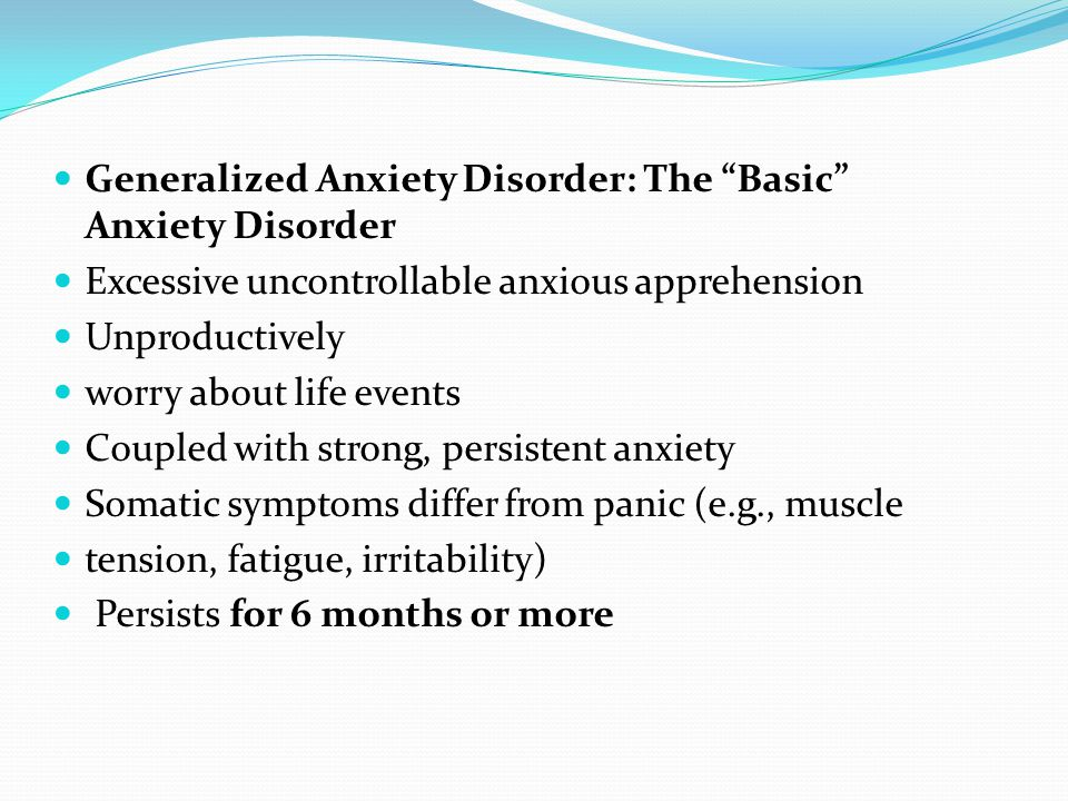 Anxiety Disorders. - ppt video online download