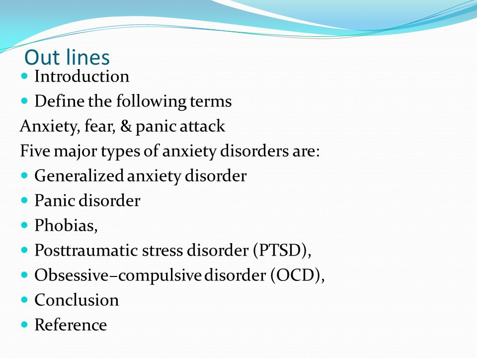 Generalized Anxiety Disorder vs. PTSD