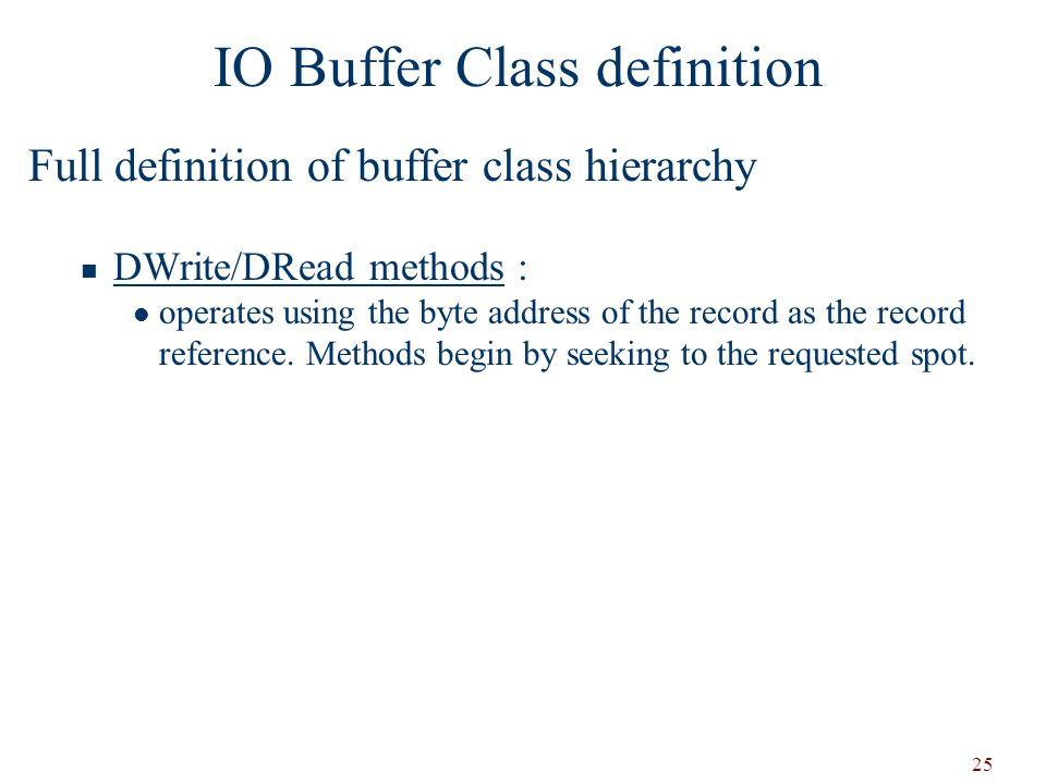 IO Buffer Class definition