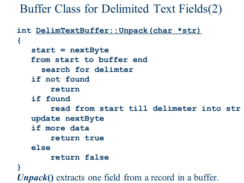 Buffer Class for Delimited Text Fields(2)