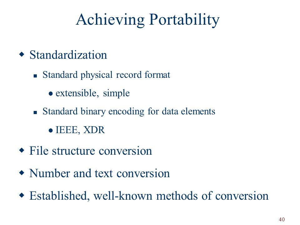 Achieving Portability