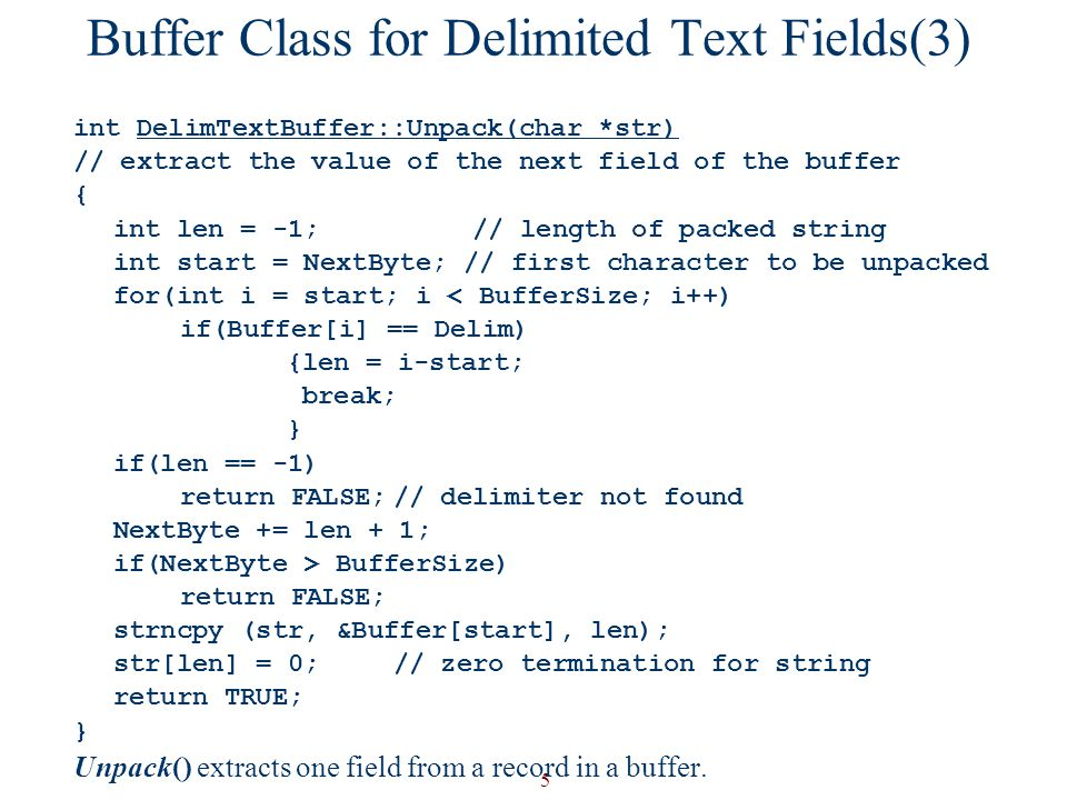 Buffer Class for Delimited Text Fields(3)