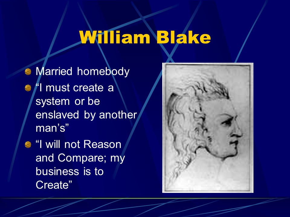 a comparison of william blakes compositions 1 a technical analysis of blake's art is included in william blake, printmaker by overview of the methods and materials employed by blake, comparing them finally, black pen and ink lines further define elements in the composition (illus.