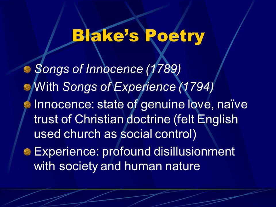 Blake's Poetry Songs of Innocence (1789)