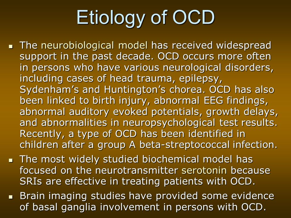 Etiology of OCD