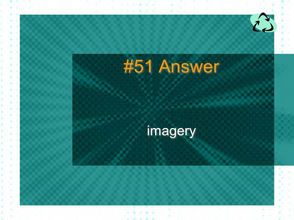 #51 Answer imagery