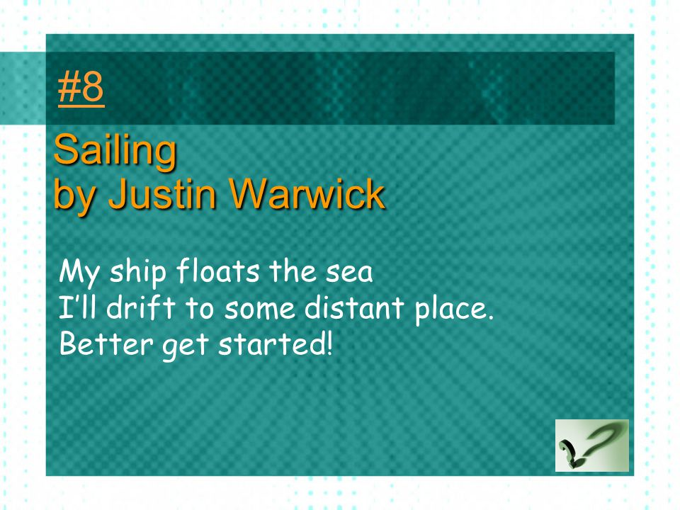 Sailing by Justin Warwick