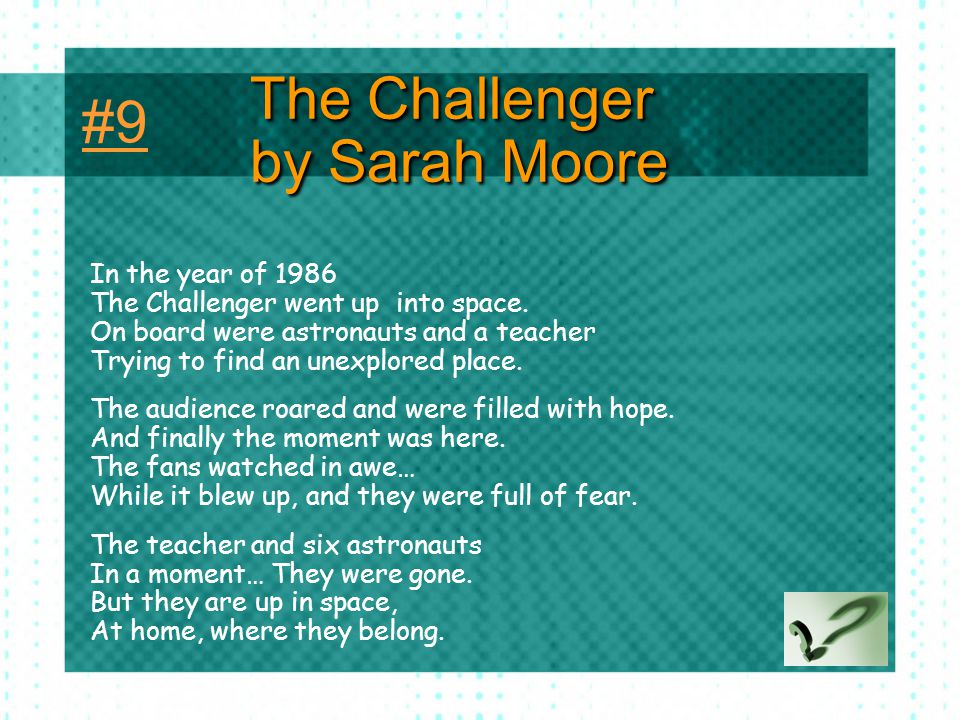 The Challenger by Sarah Moore