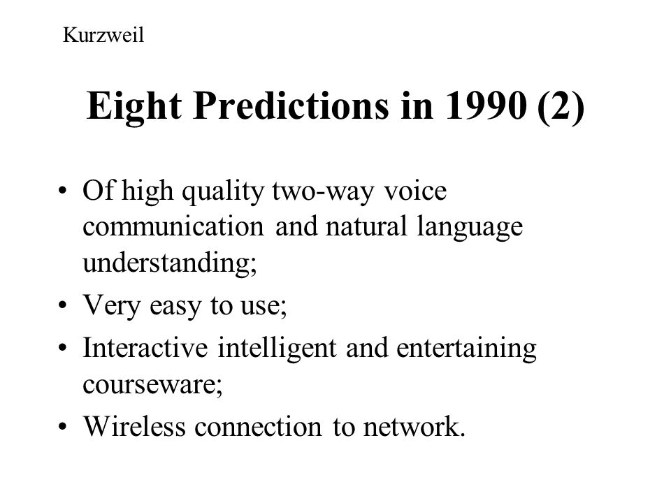 Eight Predictions in 1990 (2)