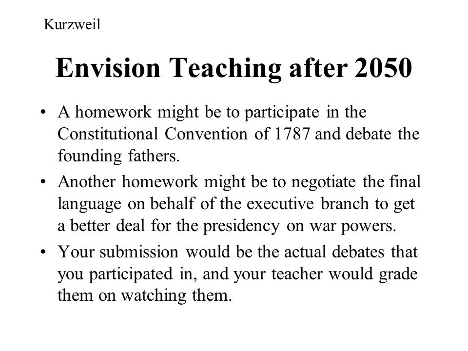Envision Teaching after 2050