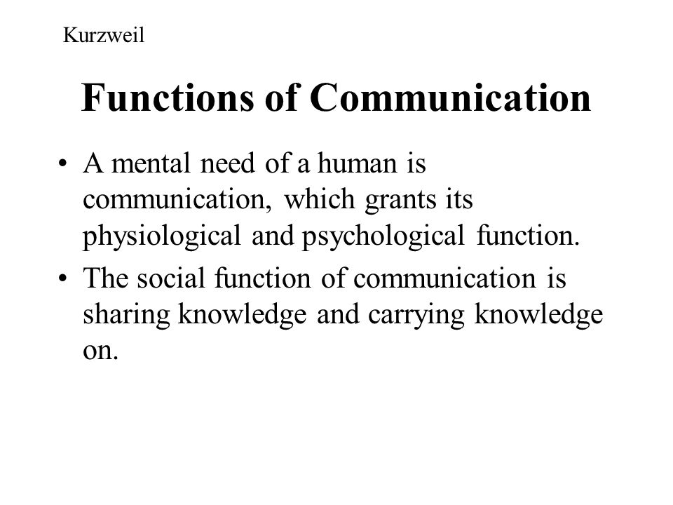 Functions of Communication