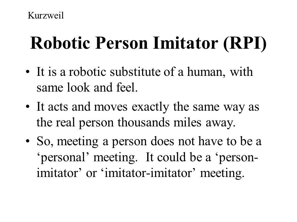 Robotic Person Imitator (RPI)