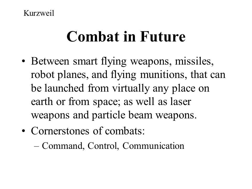 Kurzweil Combat in Future.
