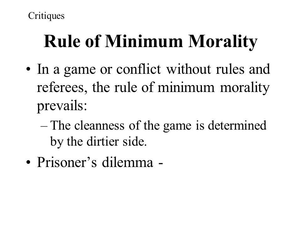 Rule of Minimum Morality