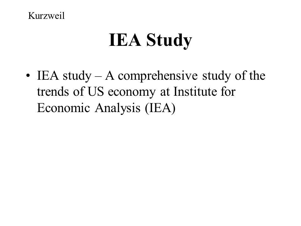 Kurzweil IEA Study.