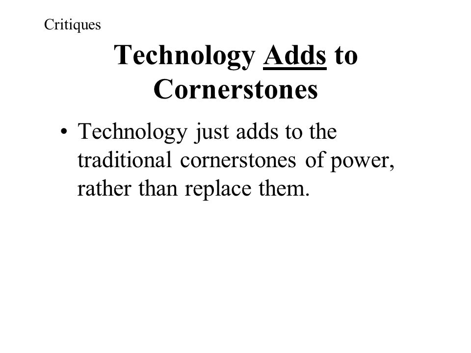 Technology Adds to Cornerstones