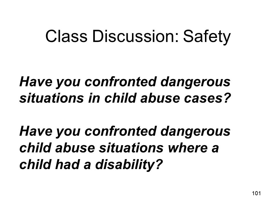 Class Discussion: Safety