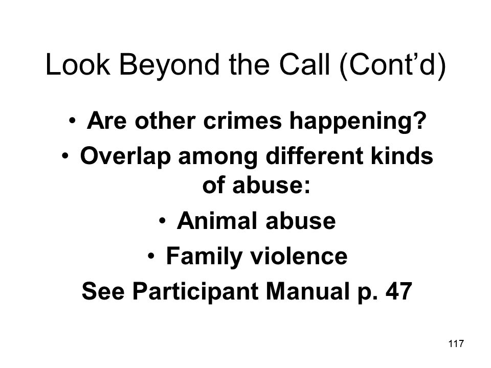 Look Beyond the Call (Cont'd)