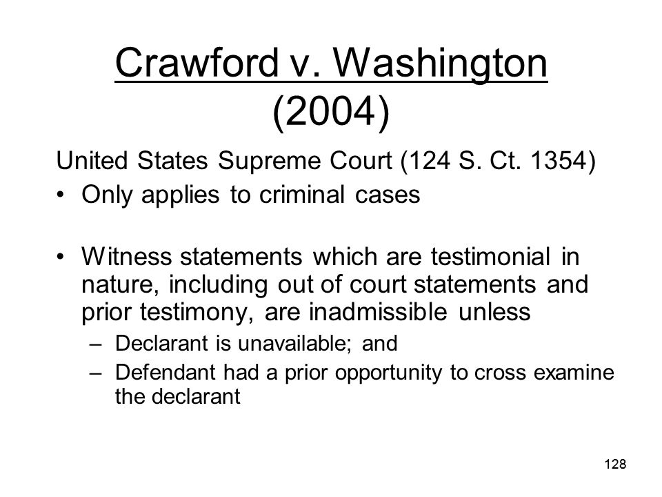 Crawford v. Washington (2004)