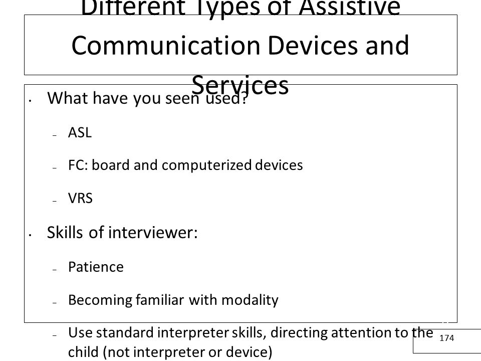 Different Types of Assistive Communication Devices and Services