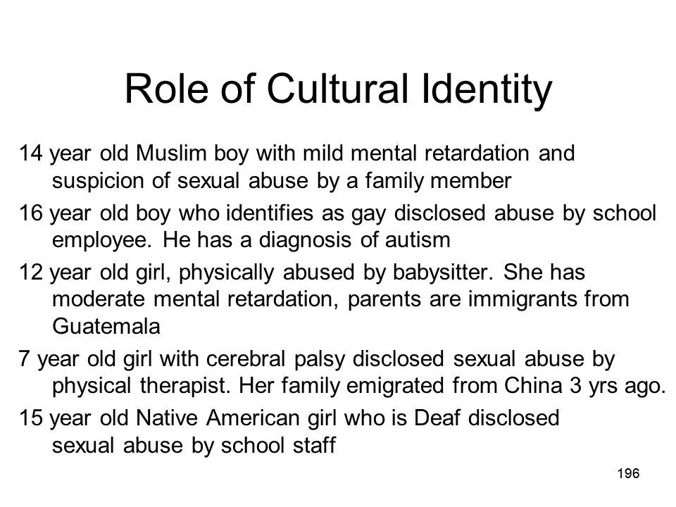 Role of Cultural Identity