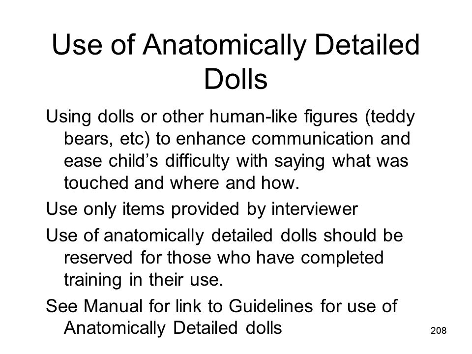Use of Anatomically Detailed Dolls