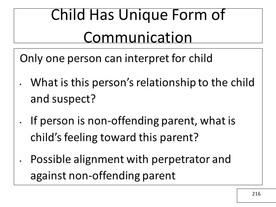 Child Has Unique Form of Communication