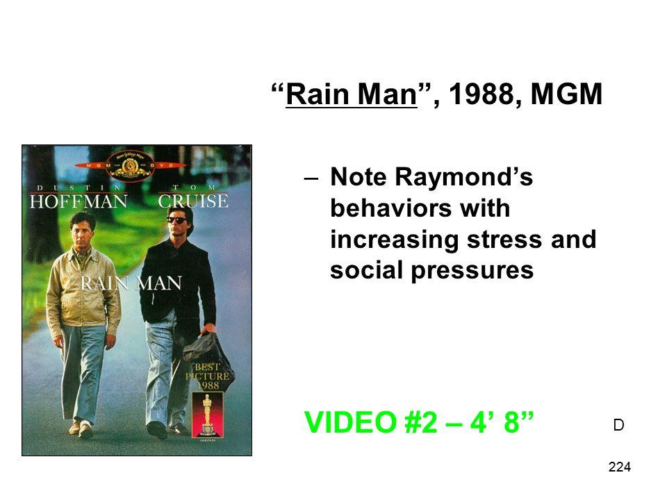 Rain Man , 1988, MGM VIDEO #2 – 4' 8