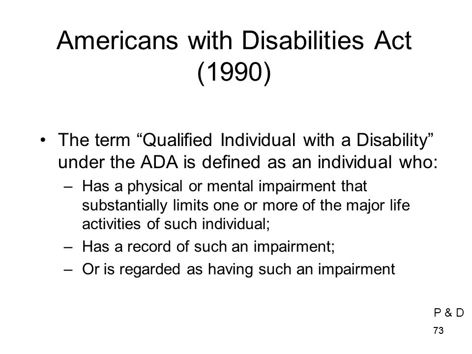 Americans with Disabilities Act (1990)