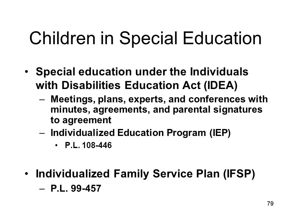 Children in Special Education