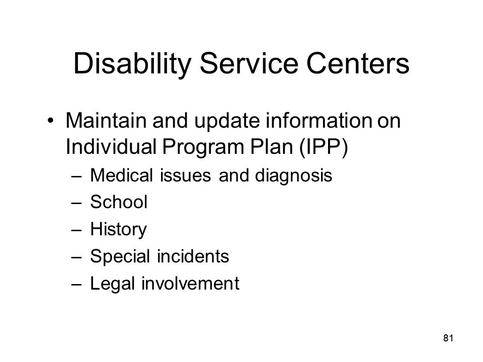Disability Service Centers