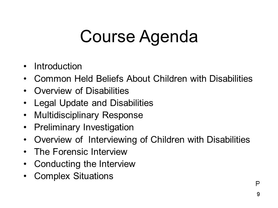 Course Agenda Introduction