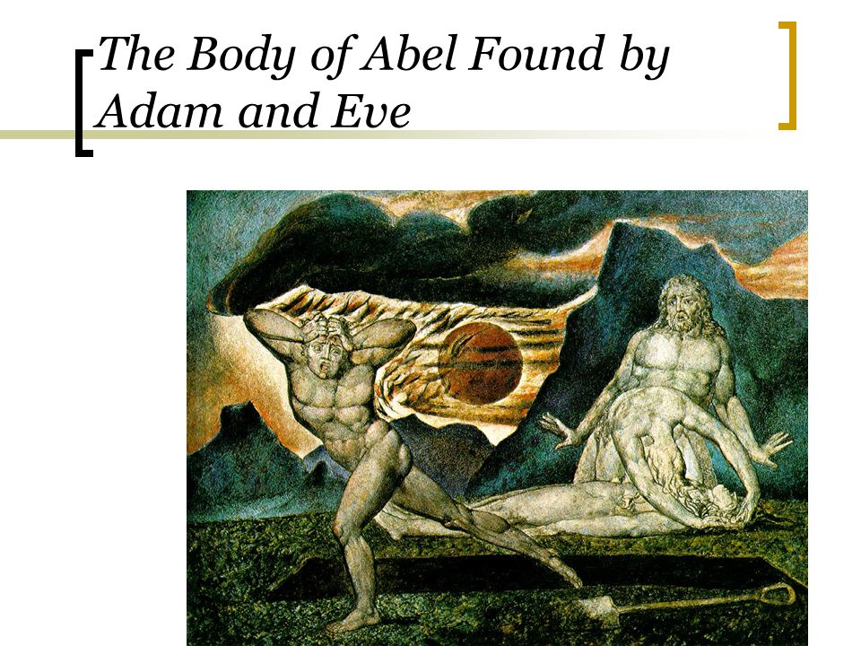 The Body of Abel Found by Adam and Eve