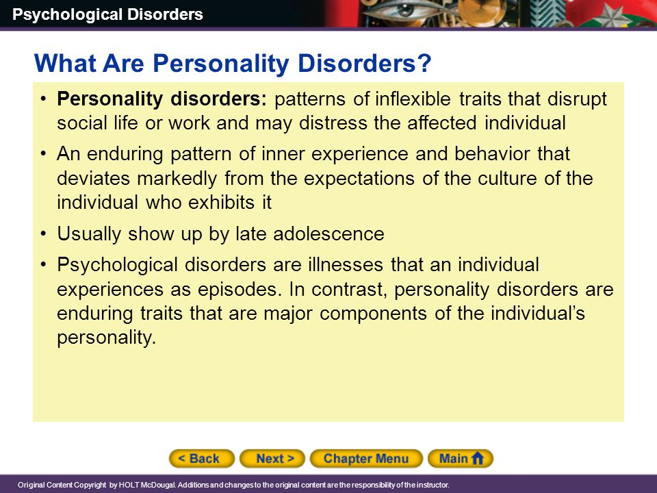 What Are Personality Disorders