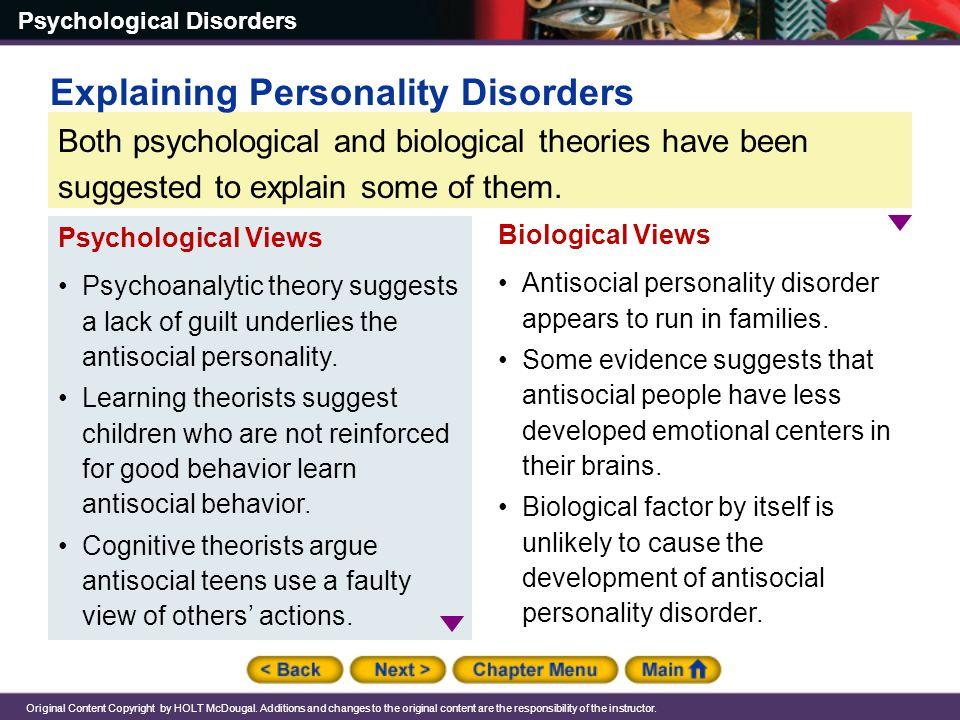 Explaining Personality Disorders