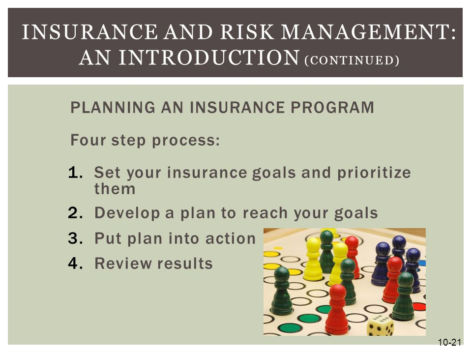 Insurance and Risk Management: An Introduction (continued)