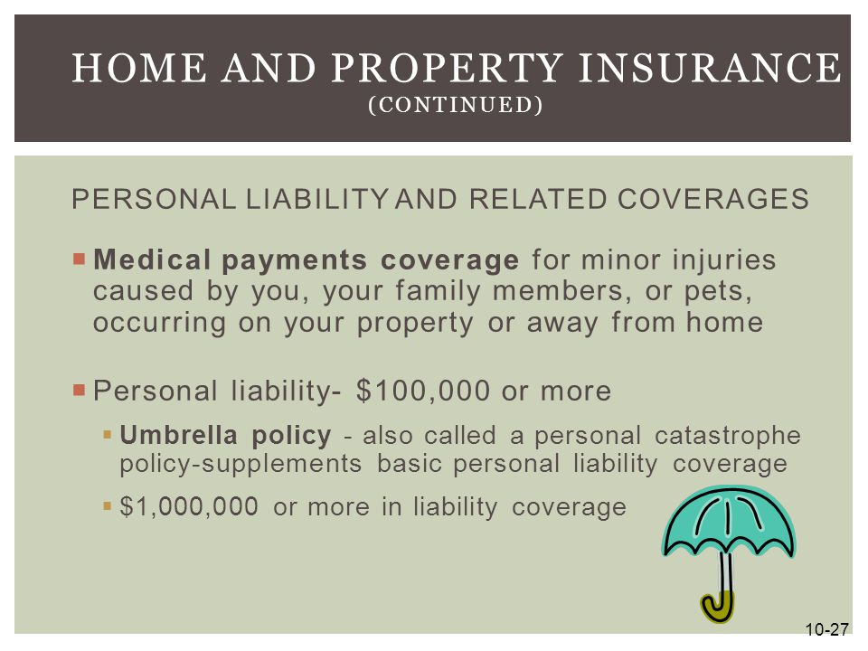 Home and Property Insurance (continued)