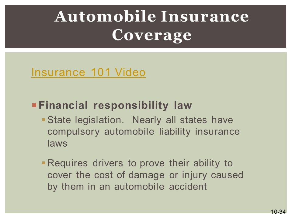Automobile Insurance Coverage