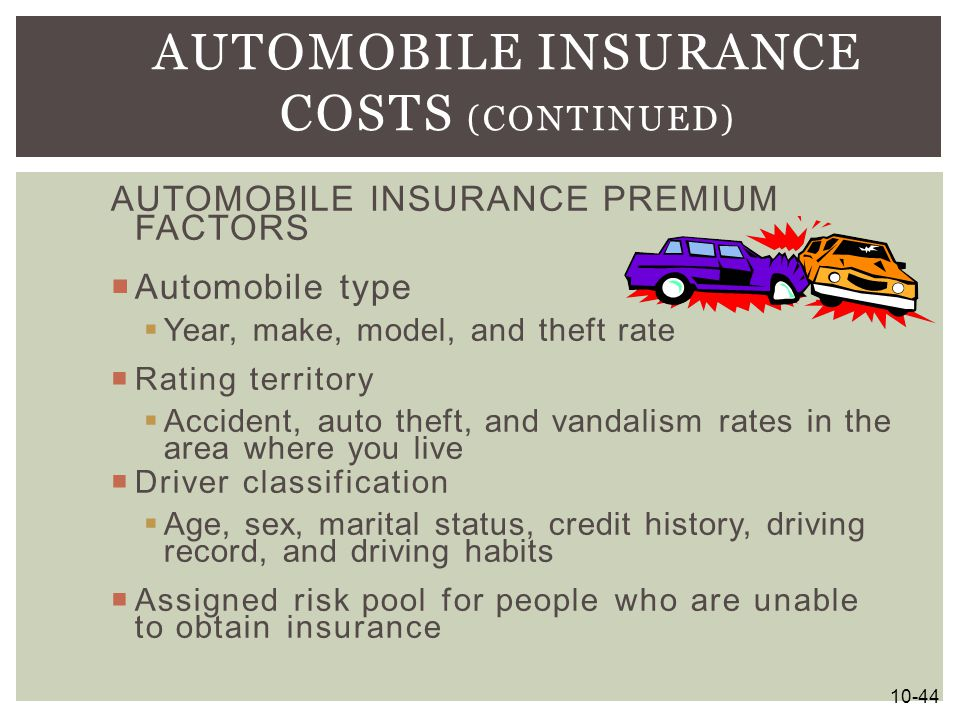 Automobile Insurance Costs (continued)