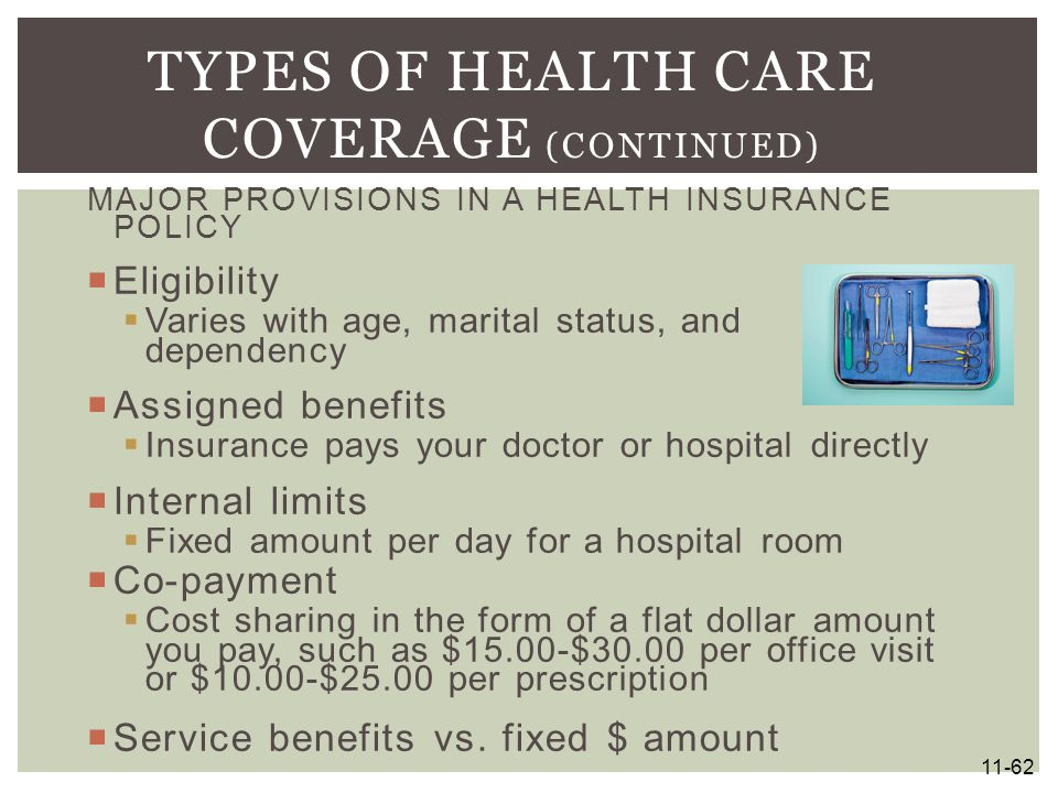 Types of Health Care Coverage (continued)