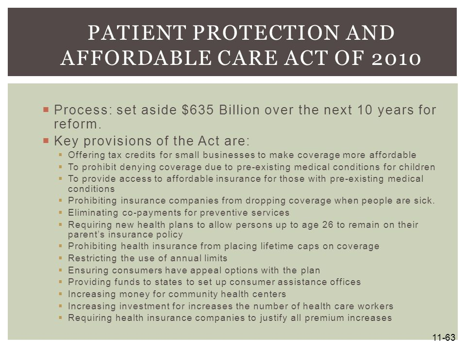 Patient Protection and Affordable Care Act of 2010