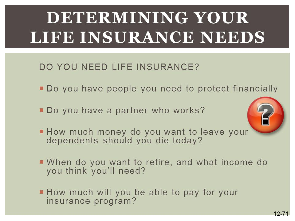 Determining Your Life Insurance Needs