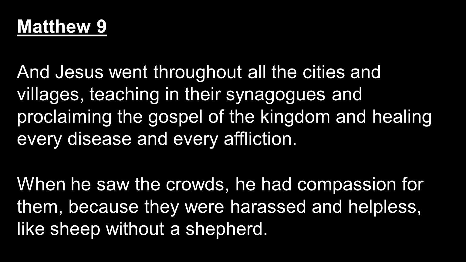 Matthew 9