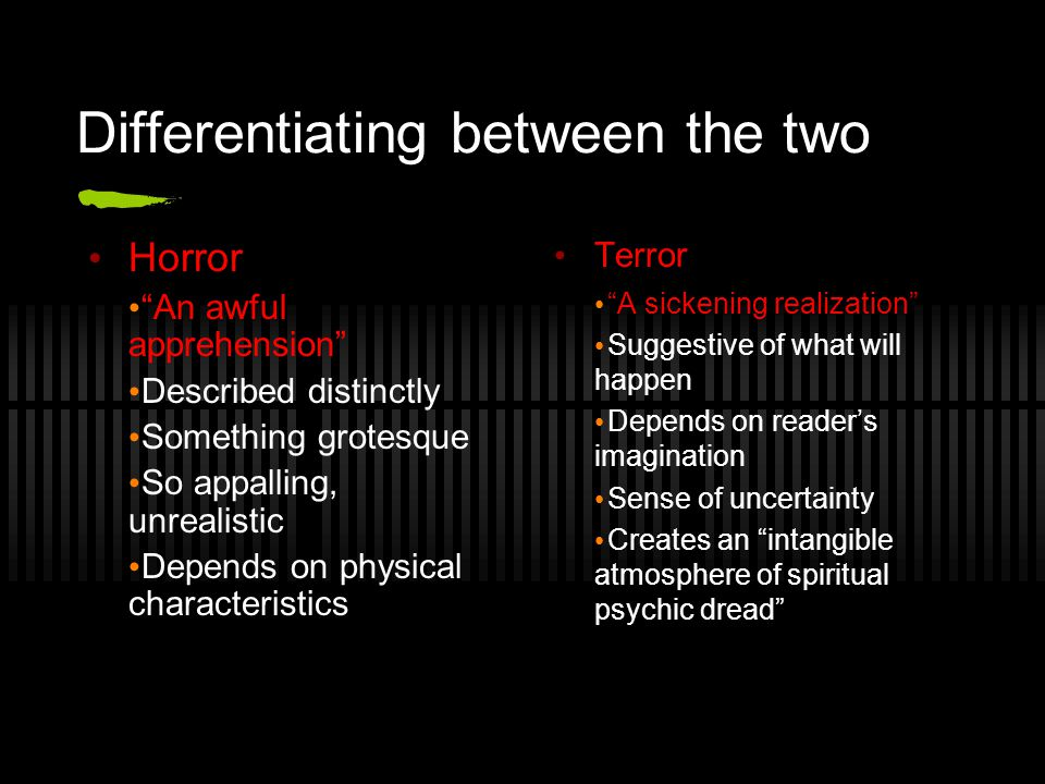 Differentiating between the two